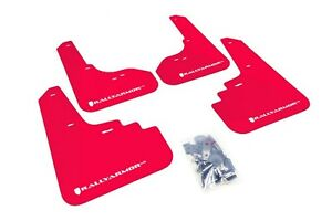 Rally Armor Mud Flaps Guards For 05 09 Subaru Legacy red W white Logo