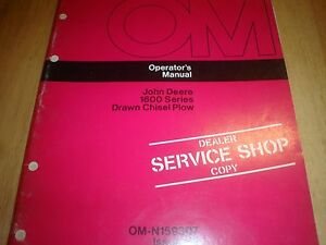 John Deere 1600 Chisel Plow Manual