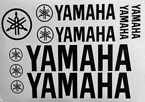 10 Yamaha Racing Vinyl Stickers Graphic Kit Moto Motocross Supercross Atv