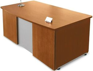 36 d X 72 w Contemporary Executive Office Desk In Cherry Finish