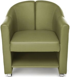 Mobile Club Lounge Chair In Leaf Vinyl With Lower Bottom Storage Lounge Chair
