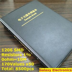 1206 1 Smd Smt Chip Resistors Assortment Kit 170values X50 Assorted Sample Book