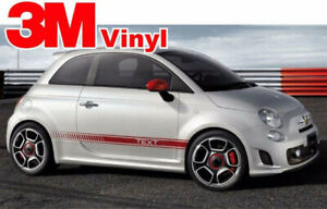 Fiat 500 Custom Vinyl Decal Graphics Abarth Style Side Stripes