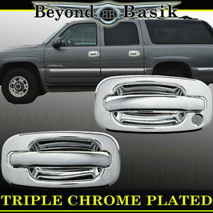 1999 2006 Chevy Silverado Triple Chrome Door Handle Cover Without P