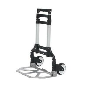 150 Lbs Cart Folding Dolly Push Truck Hand Foldable Trolley Luggage Aluminium