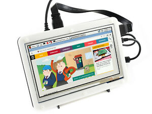 Waveshare 7inch Hdmi Lcd b With Bicolor Case For Raspberry Pi Ips Touch Screen