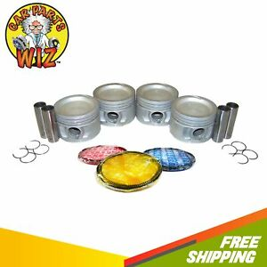 Pistons W Rings Fits 89 92 Chrysler Dodge Plymouth Lebaron Voyager 2 5l Turbo