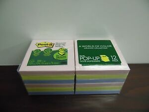 Post it Greener Notes Recycled Pop up Notes 3x3 100 Shts pd 12 Pds pk 10b