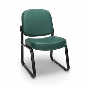 Anti bacterial Teal Vinyl Reception Office Side Chair Waiting Room Chair