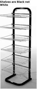 New Retail Black With Black Fixed Six Shelves Display Rack 51 h X15 3 8 w X14 d