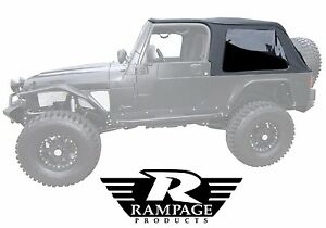 Rampage 2 in 1 Frameless Soft Top For 2004 2006 Jeep Wrangler Unlimited Lj