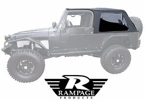 Rampage 2 In 1 Frameless Soft Top 2004 2006 Jeep Wrangler Unlimited Lj 109635