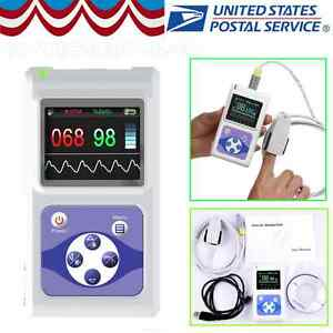 Fda Handheld Portable Pulse Oximeter Spo2 Pr Heart Rate Monitor Usb Software New