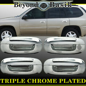 2002 2009 Chevy Trailblazer Gmc Envoy Triple Chrome Door Handle Covers W O Psgk