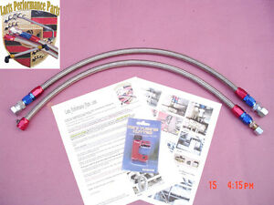 1986 1989 Porsche 944na 944 Non Turbo Stainless Steel Braided Fuel Lines 2 Pcs