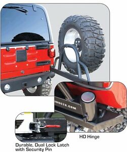 Rampage Recovery Bumper W Hitch Tire Carrier D rings For 76 06 Jeep Wrangler