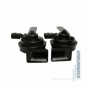 2pcs Set Of High Low Tone Horn For Audi Q5 A4 S4 A5 Passat Jetta Golf Eos Gti