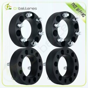4x 2 Black Wheel Spacers Adapter 6x5 5 For Chevy Silverado 1500 Tahoe Suburban