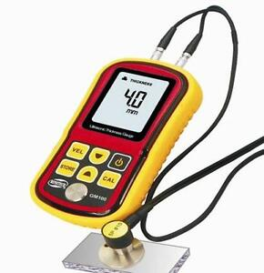 Ultrasonic Thickness Meter Tester Gauge Velocity 1 2 225mm Metal Gm 100