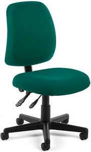 Medical Office Task Chair In Teal Fabric Clinic Office Receptionist Chair