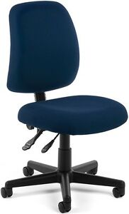 Medical Office Task Chair In Navy Fabric Clinic Office Receptionist Chair