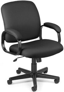 Executive Low back Medical Office Task Chair Black Fabric Arm doctor Chair