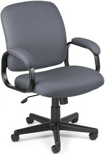 Executive Low back Medical Office Task Chair Gray Fabric Arms doctor Chair