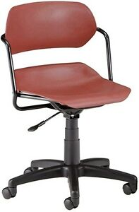 Medical Office Task Chair In Wine Contour Plastic W arms Clinic Office Chair