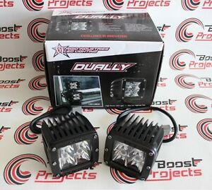 Rigid Industries Dually Led Light Hybrid Optics Spot Set Of 2 20221