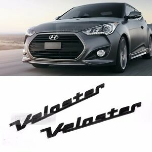 Side Front Trunk Mini Emblem Point Logo Badge Black For Hyundai 2011 17 Veloster