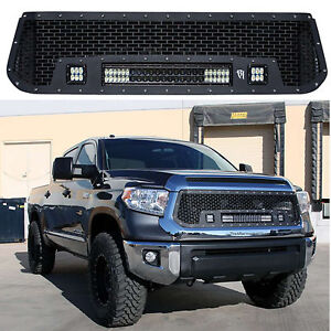 Rigid Stainless Steel Grille With Lights 20 Bar 2 D2 Led Toyota Tundra 14 15