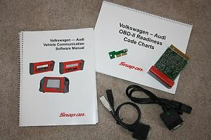 Snap On Mt2500 Mtg2500 Scanner 2002 Vw Audi Cartridge Set Adapters Key