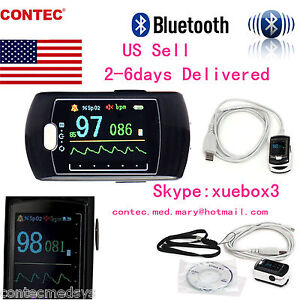 Us contec Sleep Study Finger Pulse Oximeter Spo2 Pr software bluetooth Cms50ew