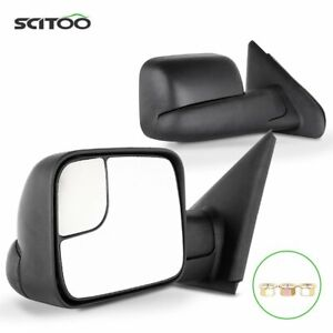 Pair For 02 08 Dodge Ram 1500 03 09 2500 3500 Side Mirrors Flip up Manual Towing