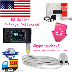 Usa Contec Handheld Tft Finger Pulse Oximeter Spo2 Oximetry 24hours Usb Cms 60c