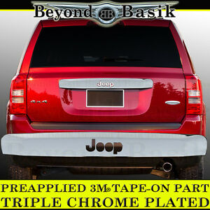 For 2007 2017 Jeep Patriot Chrome Liftgate Tailgate Handle Cover Trim Overlays
