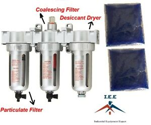 1 2 Compressed Air Inline Filter desiccant Dryer 3 Stage Good For Plasma Cutter