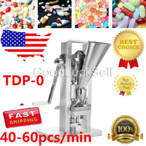Manual Single Punch Tablet Press Pill Making Machine With Hopper Tdp 0 a Fast
