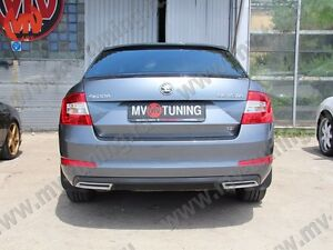 Mv Tuning Covers Imitating Exhaust For Skoda Octavia A7 Iii Painted 2013 2019