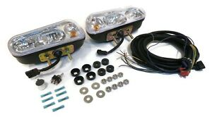 2 Universal Snow Plow Halogen Headlamp Light Kits For Snowdogg Hiniker Sno Way