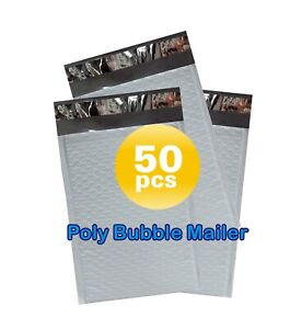 Yens 50 6 Poly Bubble Padded Envelopes Mailers 12 5 X 19 50pb6