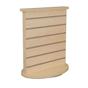 New Maple Finished Slatwall Countertop Spinner Display 18 l X 12 w X 21 5 h