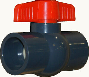 New Sch 80 Pvc 1 1 2 Inch Compact Ball Valve Socket Connection New Pvc