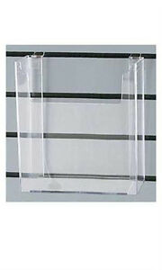 Count Of 5 New Styrene Literature Holder 8 w X 11 h X 2 d