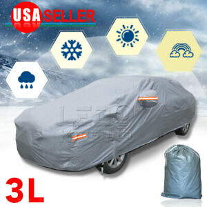 Full Car Cover Rain Snow Sun Uv Dust Heat Resistant Waterproof For Nissan Sentra