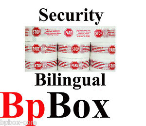 1 85 roll 72 Bilingual Sealing Security Tape Printed 2 X 110 Yd pickup Only