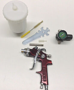 Fr 906 Hvlp Gravity Feed Spray Gun Kit With Regulator Plastic 0 6 Cup