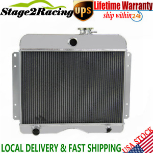 Pro 3 Row Core Full Aluminum Radiator For Jeep Willys Station Wagon 1946 1964