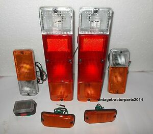 Suzuki Sj413 Brake Tail Light Turn Side Marker Front Bumper Set Samurai 1986 95