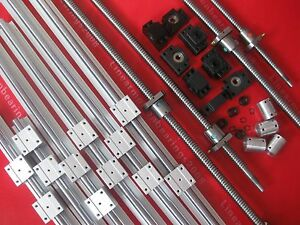 3 Linear Rails Sbr Set 4 Ballscrews 4 Bk bf 4 Ballnut Brackets 4 Coupler